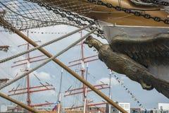 Arc de bateaux comme oiseau Photos stock