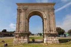 Arc de Bera, Tarragona. Triumphal arch of Bera in Tarragona, Catalonia, Spain Royalty Free Stock Photos