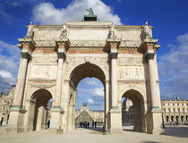 Arc de Carrousel and Louvre Museum in Paris. France Stock Images