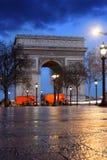 arc de evening Γαλλία Παρίσι θρίαμβο&sigma Στοκ Εικόνες