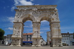 Arc de Germanicus in Saintes. An arc in the streets of Saintes France Stock Image