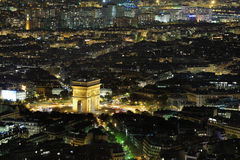 arc de night triomphe 免版税库存图片