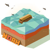 Arc de Noé de miracle illustration libre de droits