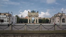 Arc de paix à Milan photos stock