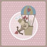 Arc de pousse de cupidon arrière-plan chaud de ballon à air au rétro, PA réutilisée Images stock