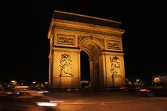 Arc de Trinomphe. View of Monument Royalty Free Stock Photography