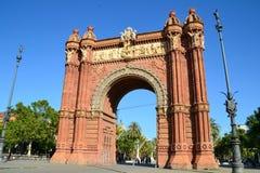 Arc de Triomf - Βαρκελώνη Στοκ Φωτογραφία