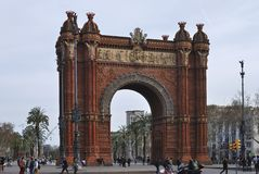 arc de triomf Βαρκελώνη Ισπανία Στοκ Εικόνα