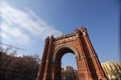 Arc de Triomf, Βαρκελώνη, Ισπανία Στοκ Φωτογραφίες