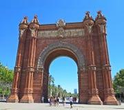 Arc de Triomf, Βαρκελώνη, Ισπανία Στοκ εικόνα με δικαίωμα ελεύθερης χρήσης