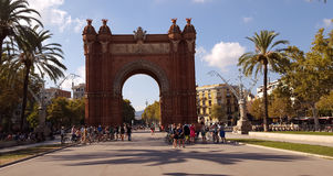Arc de Triomf, Βαρκελώνη, Ισπανία Στοκ Εικόνες