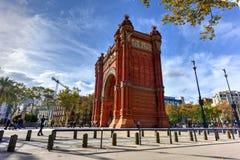 Arc de Triomf - Βαρκελώνη, Ισπανία Στοκ εικόνα με δικαίωμα ελεύθερης χρήσης