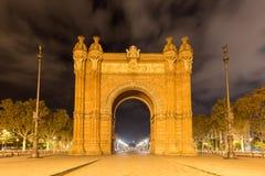 Arc de Triomf - Βαρκελώνη, Ισπανία Στοκ φωτογραφία με δικαίωμα ελεύθερης χρήσης