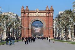 Arc de Triomf - Βαρκελώνη, Ισπανία Στοκ Εικόνες