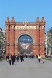 Arc de Triomf - Βαρκελώνη, Ισπανία Στοκ Εικόνα