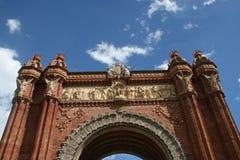 Arc de Triomf Βαρκελώνη Στοκ Εικόνα