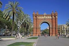Arc de Triomf, Βαρκελώνη, Catalunya, Ισπανία Αυγούστου 2012 Στοκ Εικόνα