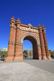Arc de Triomf, Βαρκελώνη, Catalunya, Ισπανία Στοκ Εικόνα