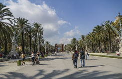 Arc de Triomf είναι στη Βαρκελώνη, Ισπανία Στοκ Φωτογραφία