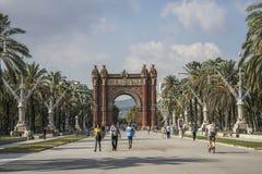 Arc de Triomf είναι στη Βαρκελώνη, Ισπανία Στοκ Εικόνες