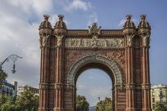 Arc de Triomf είναι στη Βαρκελώνη, Ισπανία Στοκ φωτογραφίες με δικαίωμα ελεύθερης χρήσης