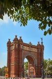 Arc de Triomf, θριαμβευτική αψίδα, Βαρκελώνη Στοκ εικόνα με δικαίωμα ελεύθερης χρήσης