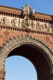 arc de triomf που χτίζει τη Βαρκελώνη Ισπανία Στοκ φωτογραφία με δικαίωμα ελεύθερης χρήσης