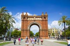Arc de Triomf στη Βαρκελώνη, Ισπανία Στοκ φωτογραφία με δικαίωμα ελεύθερης χρήσης
