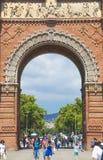 Arc de Triomf στη Βαρκελώνη, Ισπανία Στοκ εικόνα με δικαίωμα ελεύθερης χρήσης