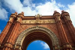 Arc de Triomf στη Βαρκελώνη, Ισπανία Στοκ φωτογραφίες με δικαίωμα ελεύθερης χρήσης