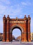 Arc de Triomf στη Βαρκελώνη Στοκ Εικόνα
