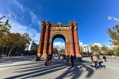 Arc de Triomf -巴塞罗那,西班牙 免版税图库摄影