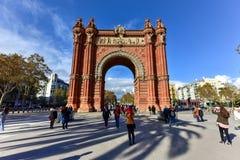 Arc de Triomf -巴塞罗那,西班牙 图库摄影
