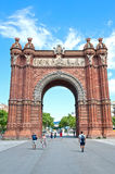 The Arc de Triomf Stock Photography