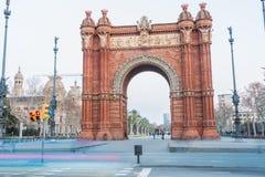 Arc de Triomf. In Barcelona at Night Stock Photo