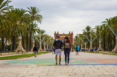 Arc de Triomf arch in Barcelona, Spain Royalty Free Stock Images