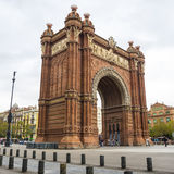 Arc de Triomf arch in Barcelona, Spain. BARCELONA, CATALONIA, SPAIN - OCTOBER 10, 2016. Arc de Triomf Triumphal Arch, near Parc De La Ciutadella. Barcelona Royalty Free Stock Image