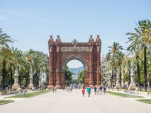 Arc de Triomf. Is an arch in the manner of a memorial or triumphal arch in Barcelona Stock Photography