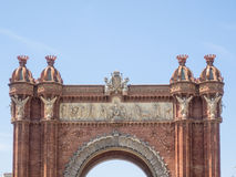 Arc de Triomf. Is an arch in the manner of a memorial or triumphal arch in Barcelona Royalty Free Stock Images