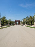 Arc de Triomf. Is an arch in the manner of a memorial or triumphal arch in Barcelona Royalty Free Stock Photography