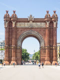 Arc de Triomf. Is an arch in the manner of a memorial or triumphal arch in Barcelona Royalty Free Stock Photos