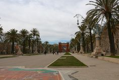 Arc de Triomf/Arco de Triunfo, Βαρκελώνη, Catalunya, Ισπανία Στοκ Εικόνα