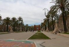 Arc de Triomf/Arco de Triunfo, Barcelona, Catalunya, Spain Stock Image