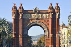 Arc de Triomf, Barcellona Immagini Stock Libere da Diritti