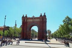 Arc de Triomf Barcellona Fotografia Stock Libera da Diritti
