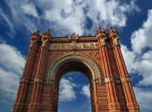 Arc de Triomf, Barcelona. Spain Stock Image