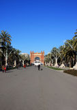 Arc de triomf in Barcelona Stock Images
