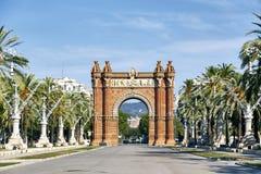 Arc DE Triomf in Barcelona royalty-vrije stock afbeelding