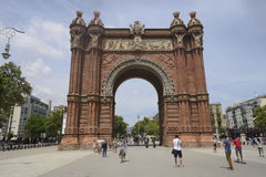 Arc DE Triomf, Barcelona Royalty-vrije Stock Foto's