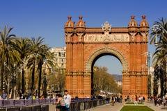 Arc DE Triomf Barcelona Royalty-vrije Stock Foto